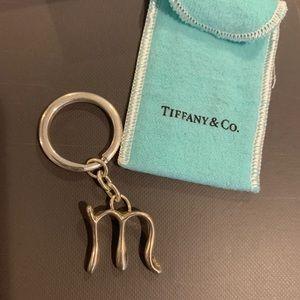 NEW Tiffany & Co Elsa Peretti Initial Keyring